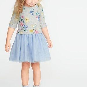 Old Navy Toddler Girl 2-in-1 Sweatshirt Tutu Dress